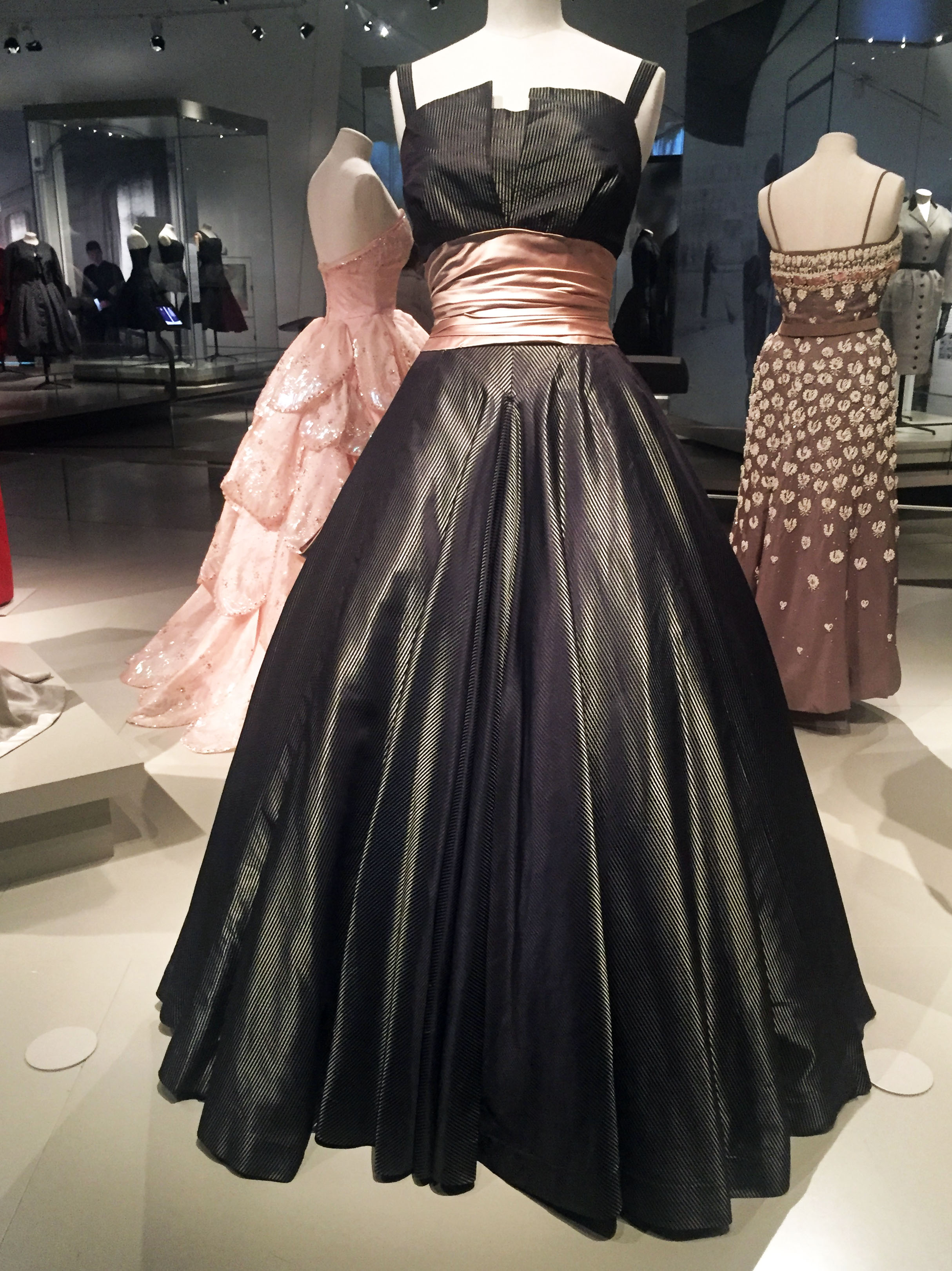 Dior Striped Dress with Pink Ribbon.jpg