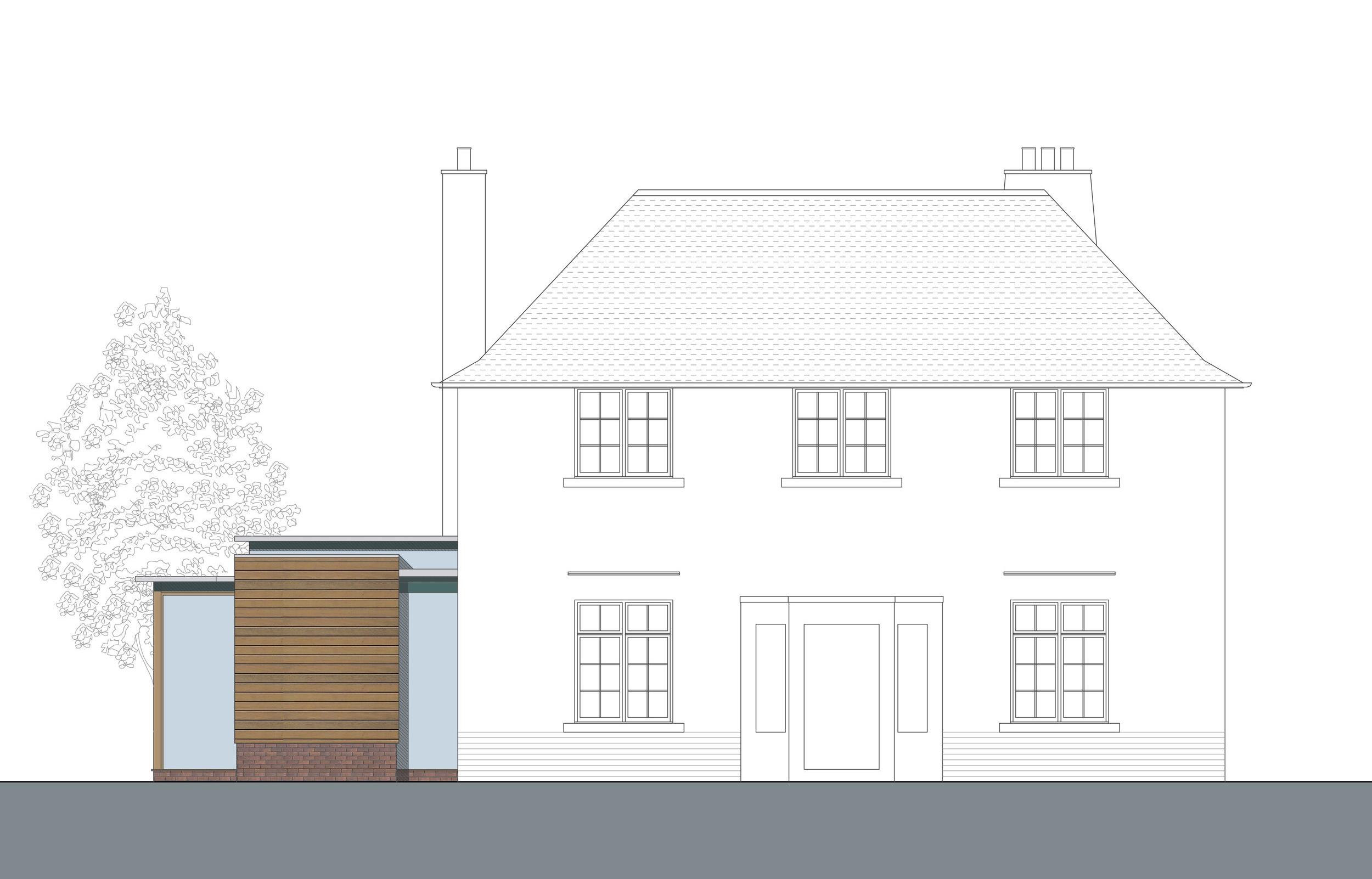 David Blaikie Architects_Whitehouse Road Elevation