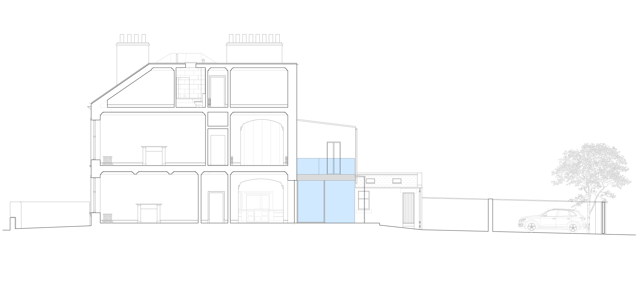 David Blaikie Architects_East Claremont Street Elevation