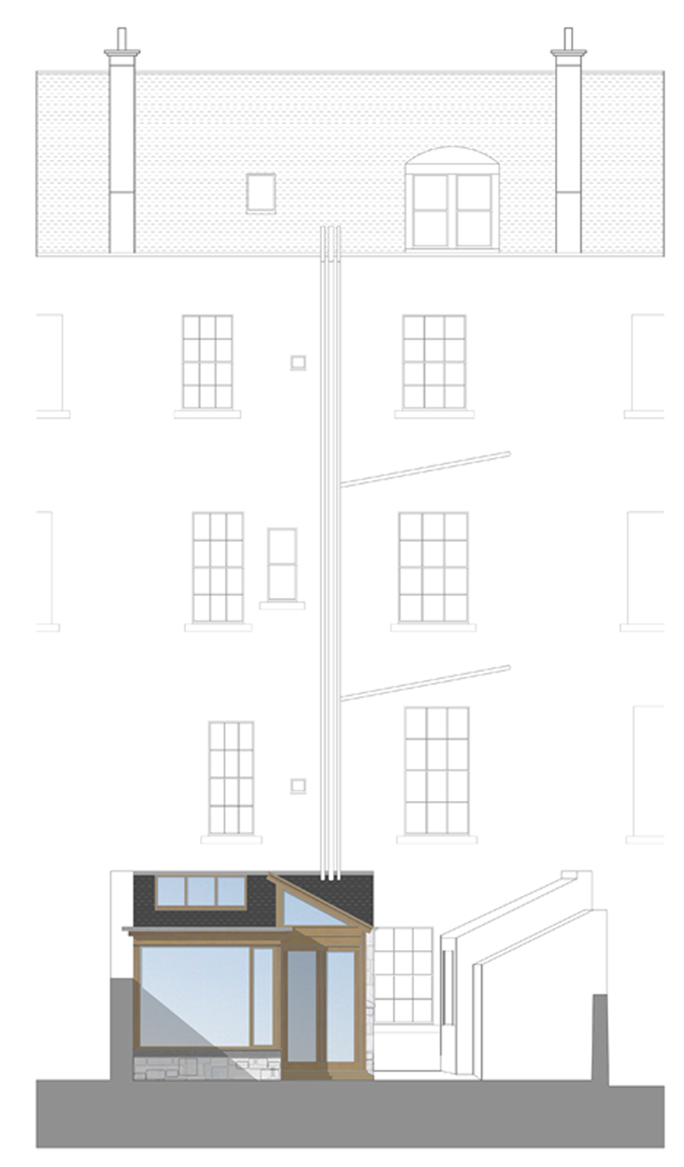 David Blaikie Architects_Clarendon Crescent Elevation
