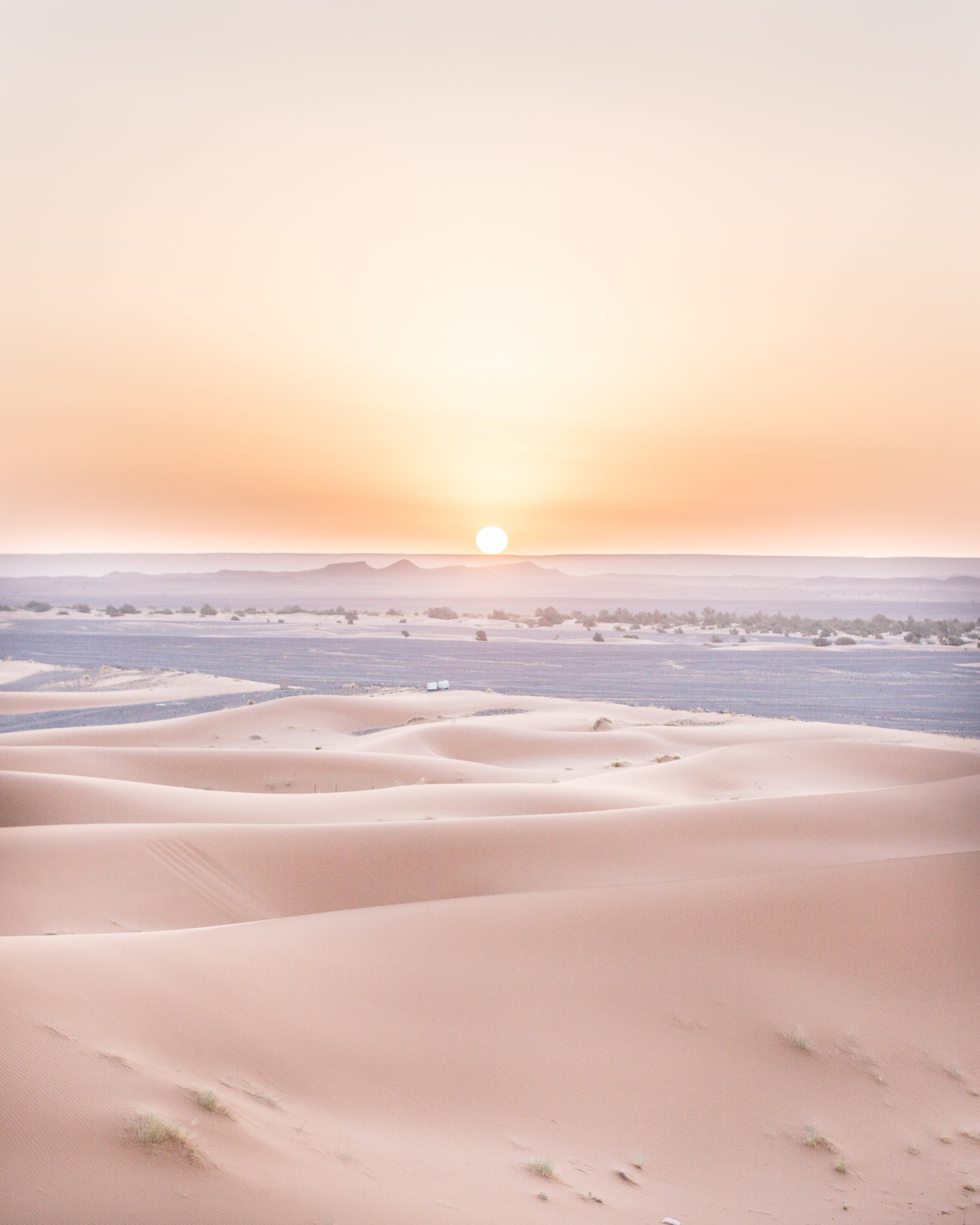 05:20 am, the sun rises over the Sahara Desert.