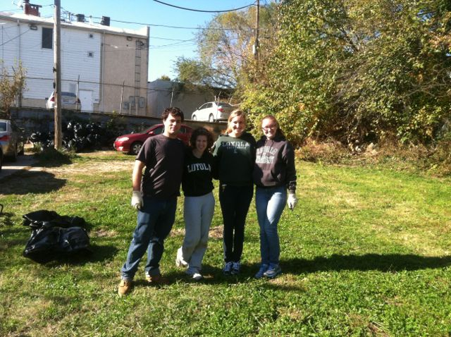 loyola professional writing students collaborated with richnor springs residents to develop literacy resources and clean up the neighborhood adopted lot