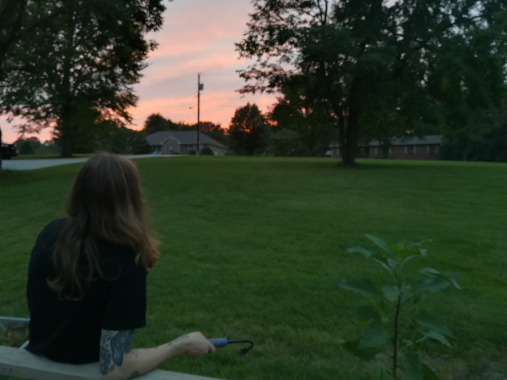 Jay taking a break from being a plant dad to admire the sunset.
