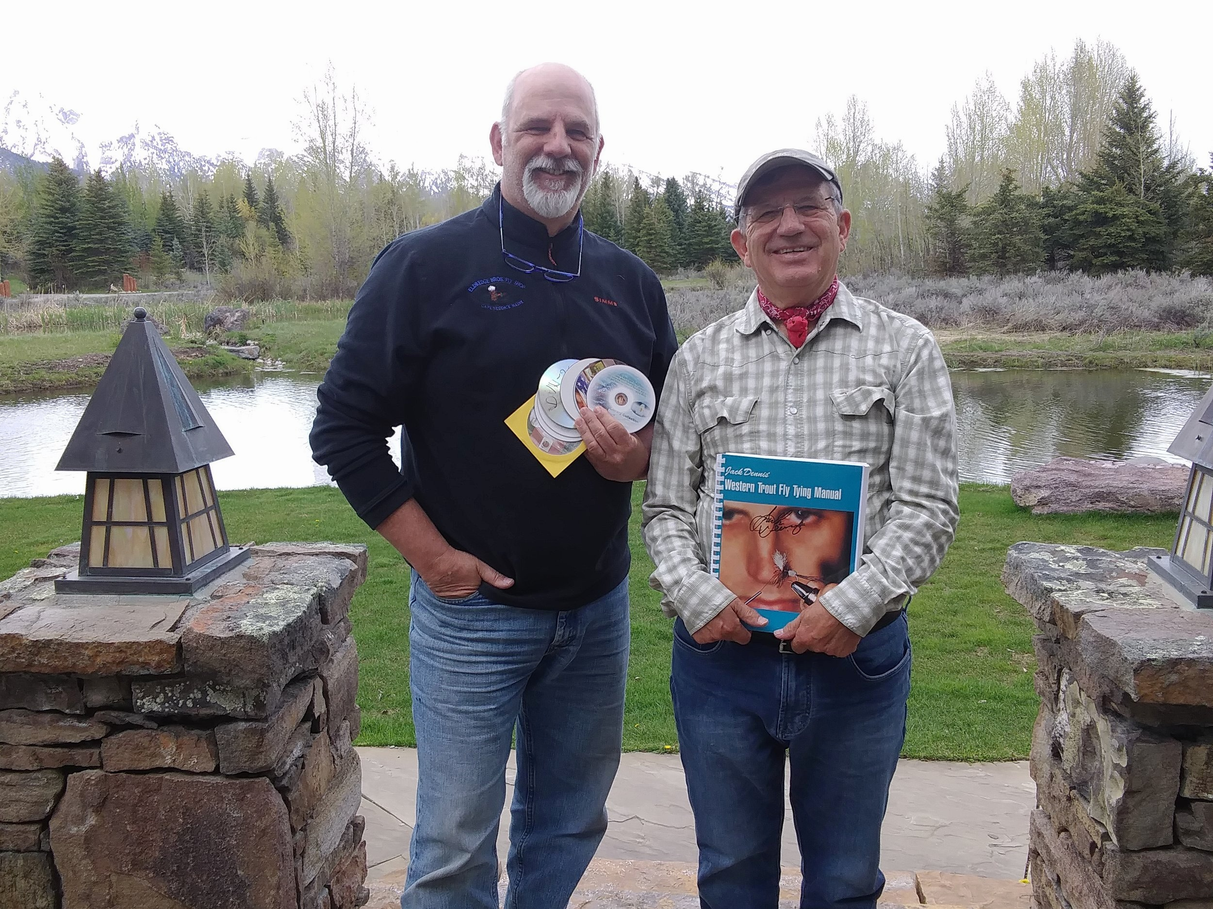 Fly fishing icon Jack dennis and I in Jackson Hole. Wyoming 2019