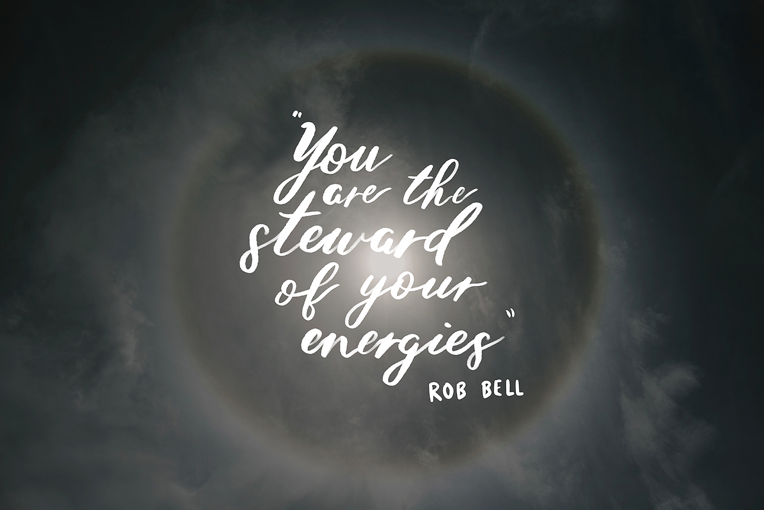 rob bell energy steward quote hand lettered