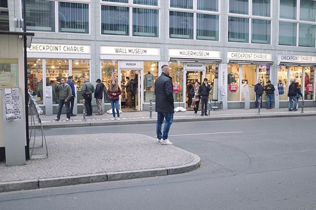 Get the shot. #fujix100f #ektachrome #vscofilter #berlin #checkpointcharlie