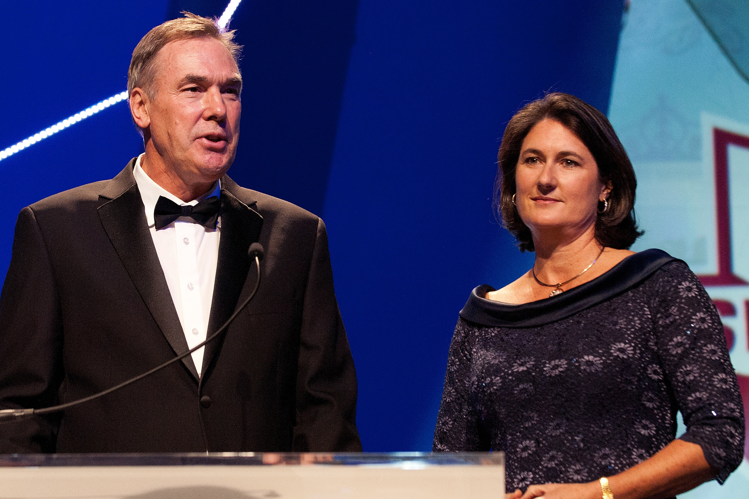 Chuck Wielgus and Mary T. Meagher at the 2012 Golden Goggle Awards // USA Swimming