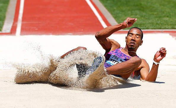 Christian Taylor in the Pre Classic triple jump // Getty Images