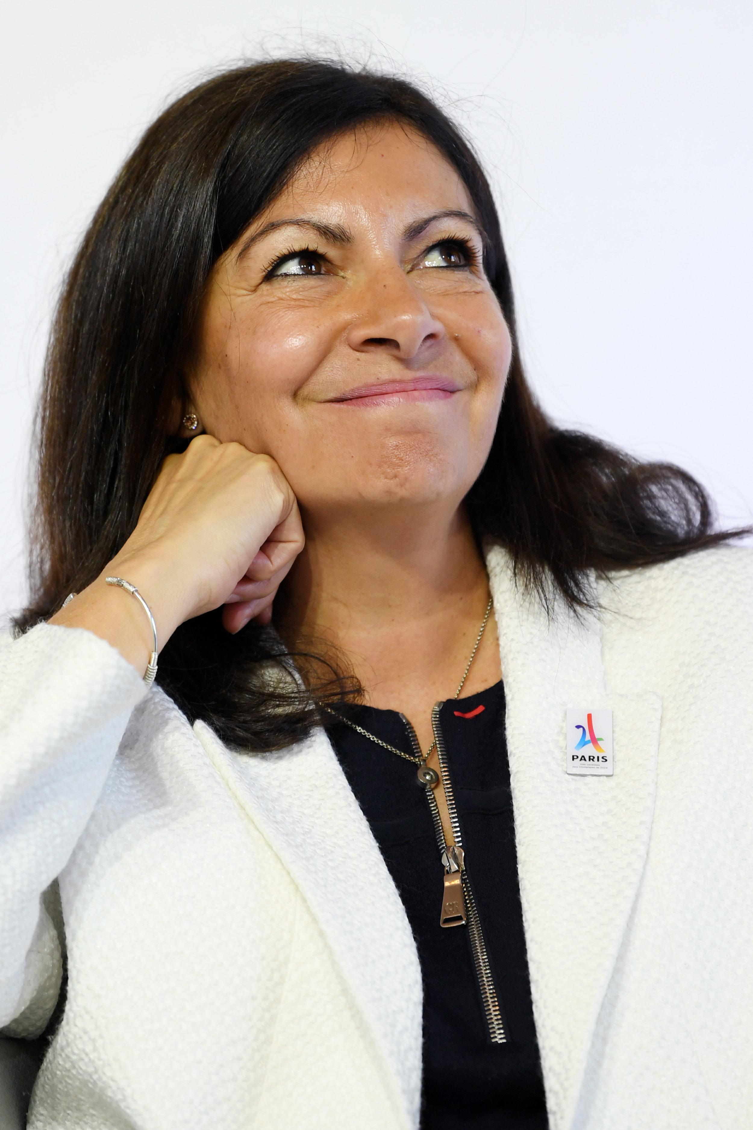 Paris mayor Anne Hidalgo during Tuesday's news conference // Philippe Millereau / KMSP / Paris 2024