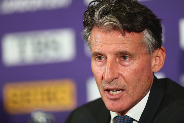IAAF president Seb Coe at Thursday's news conference // Getty Images