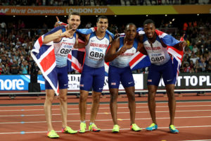 The winning GB men's 4×1 relay team // Getty Images for IAAF