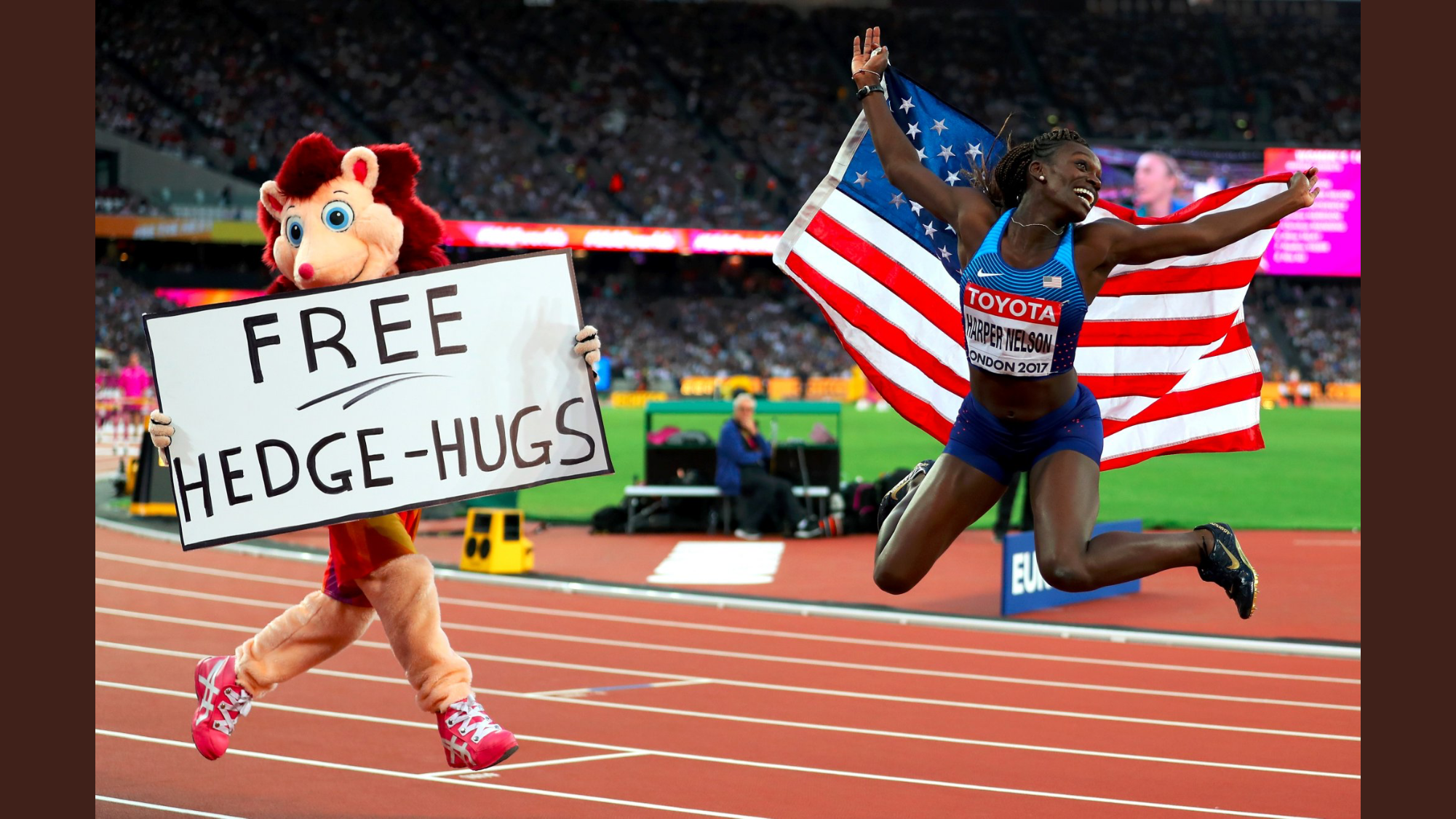 Hero with American sprint hurdles silver medalist Dawn Harper-Nelson // Getty Images
