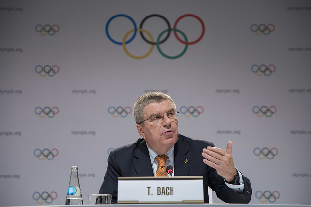 IOC president Thomas Bach at Friday's closing news conference in Lima, Peru // IOC/Flickr
