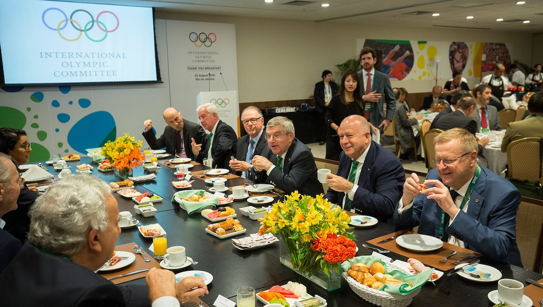 That post-closing ceremony thank-you breakfast // IOC