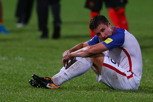 American Matt Besler amid the 2-1 loss to Trinidad and Tobago // Getty Images