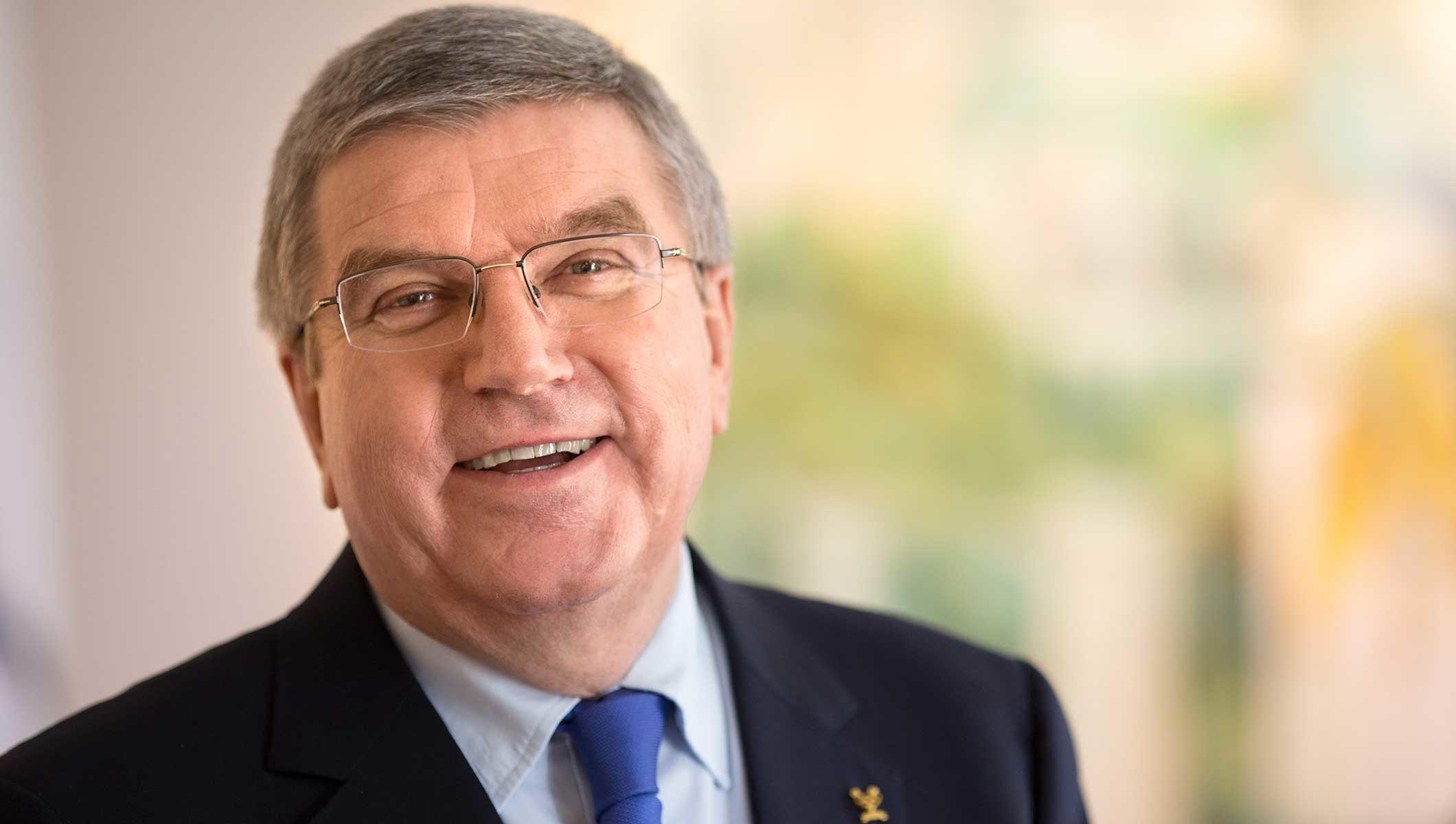The photo of the IOC president that accompanied Thomas Bach's op-ed // IOC