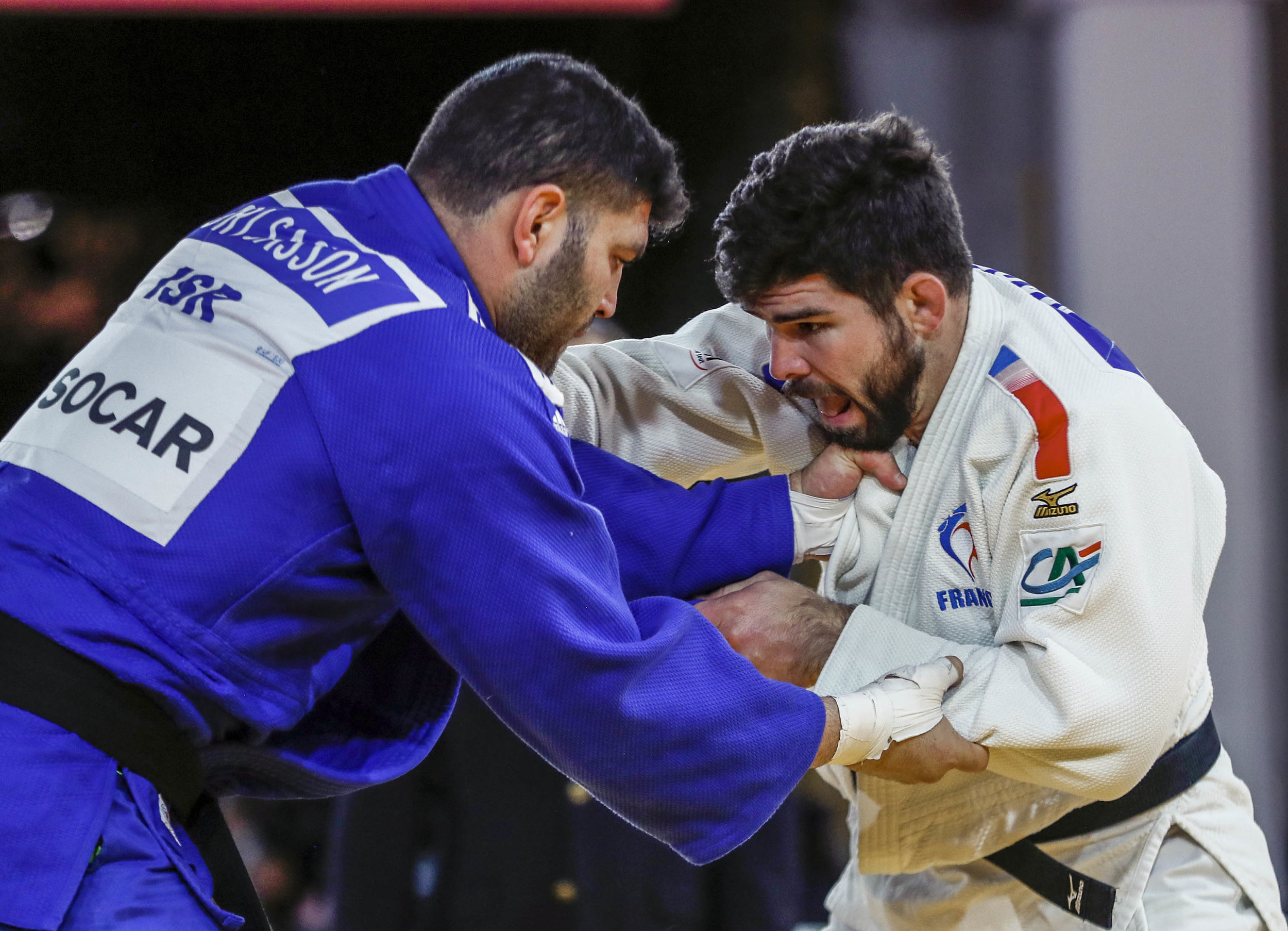 Israel's Or Sasson competing Saturday in Marrakech against France's Cyrille Maret // Gabriela Sabău, IJF