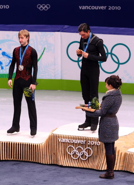 On the medals stand in Vancouver // Getty Images