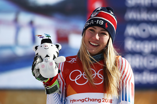 Shiffrin after winning Friday's giant slalom // Getty Images