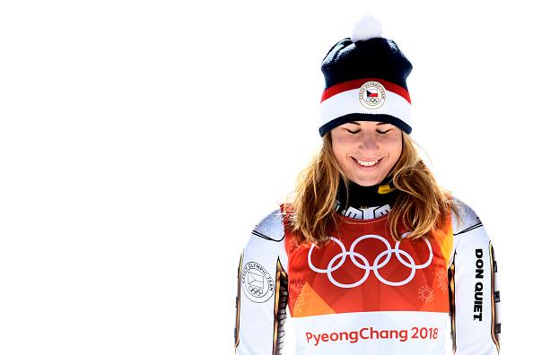 Unexpected super-G champion Ester Ledecka // Getty Images
