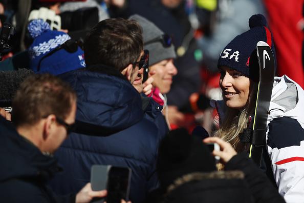 Lindsey Vonn after the super-G // Getty Images