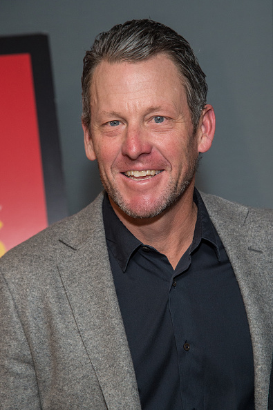 Lance Armstrong at a January showing of 'Icarus' in Brooklyn // Getty Images