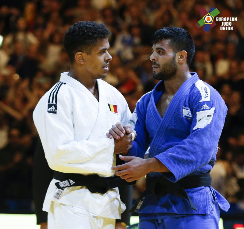Respect: Belgium's Sami Chouchi and Israel's Sagi Muki // EJU