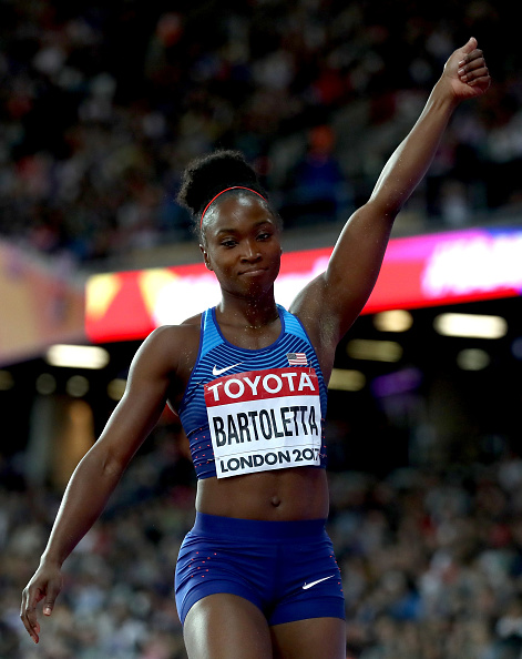 Tianna Bartoletta winning the long jump at last year's world championships // Getty Images