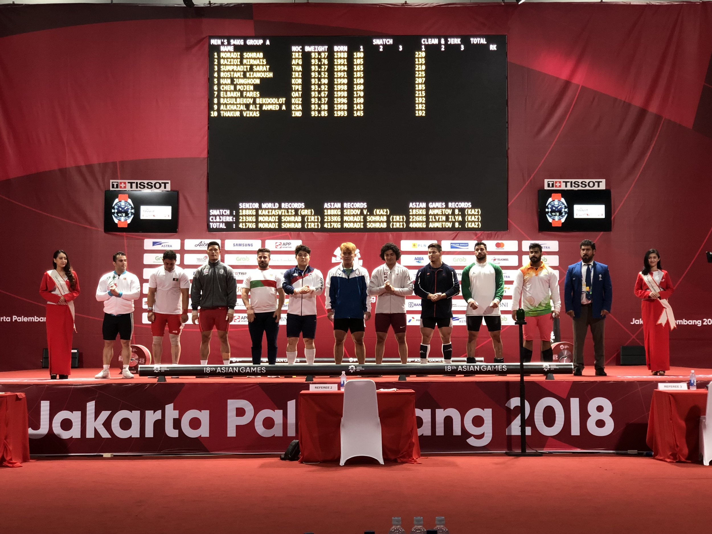 Setting the stage at weightlifting for Moradi's world record