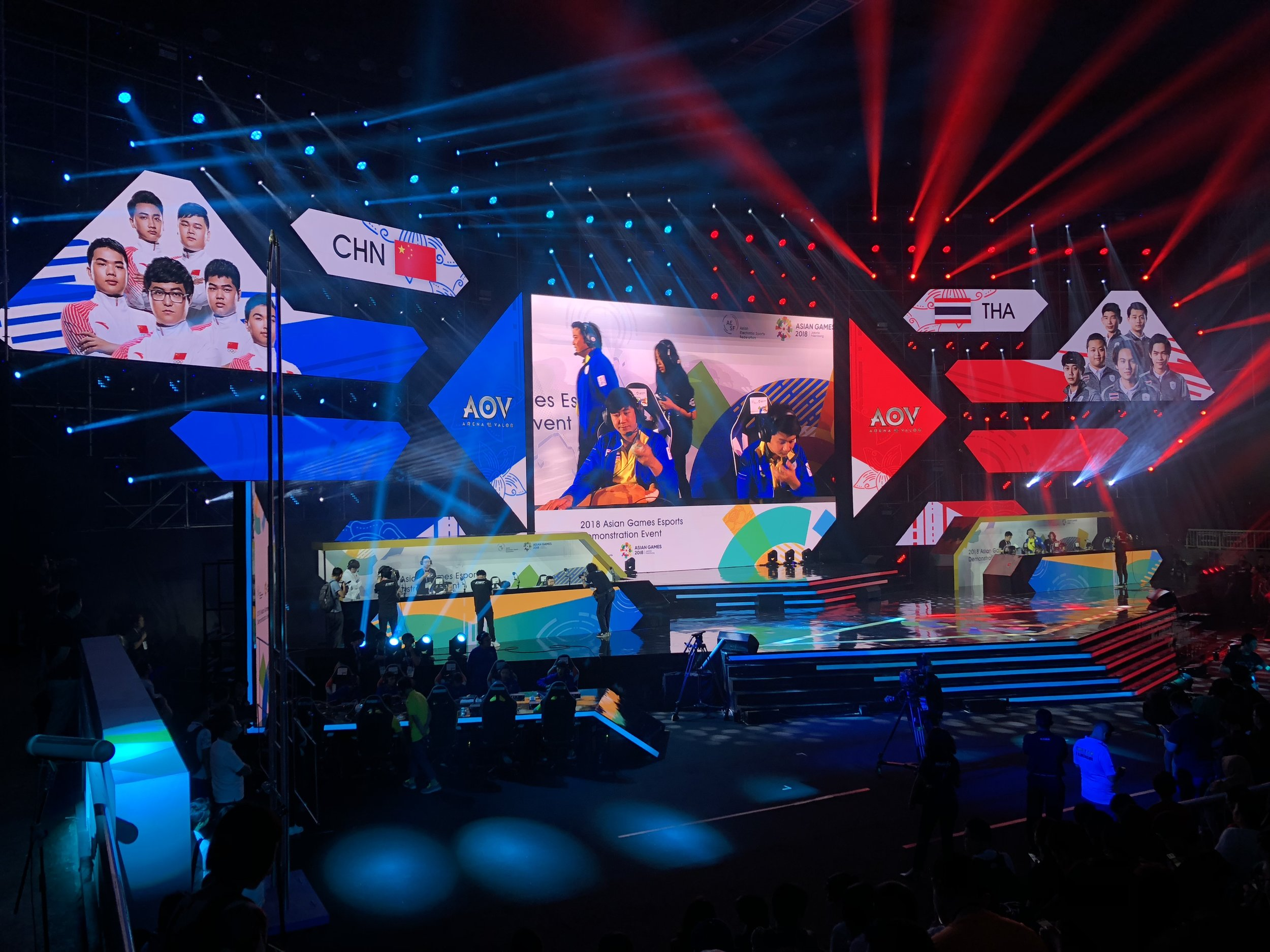 China and Thailand squaring off in AOV at Britama Arena