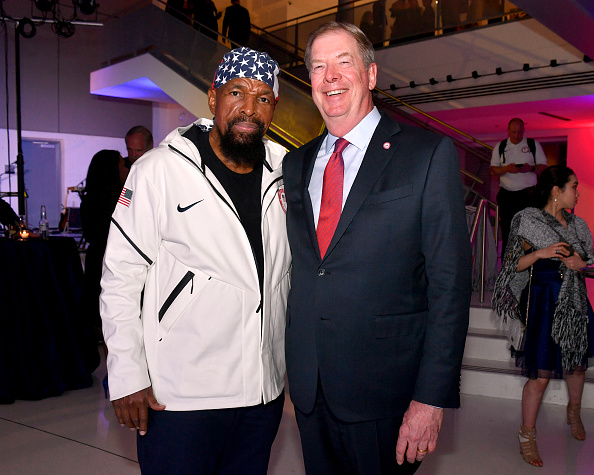 Mr. T and USOC board chair Larry Probst at the Team USA award show in April in Washington // Getty Images
