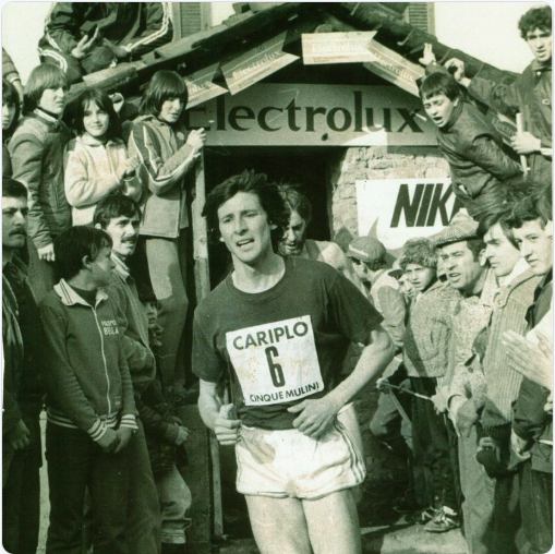 Seb Coe, now the IAAF president, during his running days, here on March 16, 1980, at the 5 Mulini cross-country race. He finished 21st and was said to be happy about it. The winner: Belgian Leon Schots // Franco Fava/Twitter