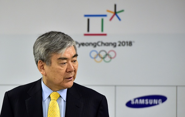 The chairman at a 2015 PyeongChang organizing committee event // Getty Images