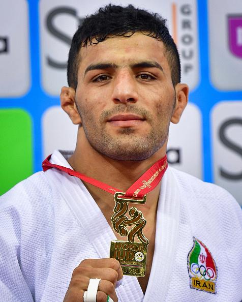Iran's Saeid Mollaei upon winning the 2018 world championship in Baku, Azerbaijan, in the men's 81-kilo class // Getty Images