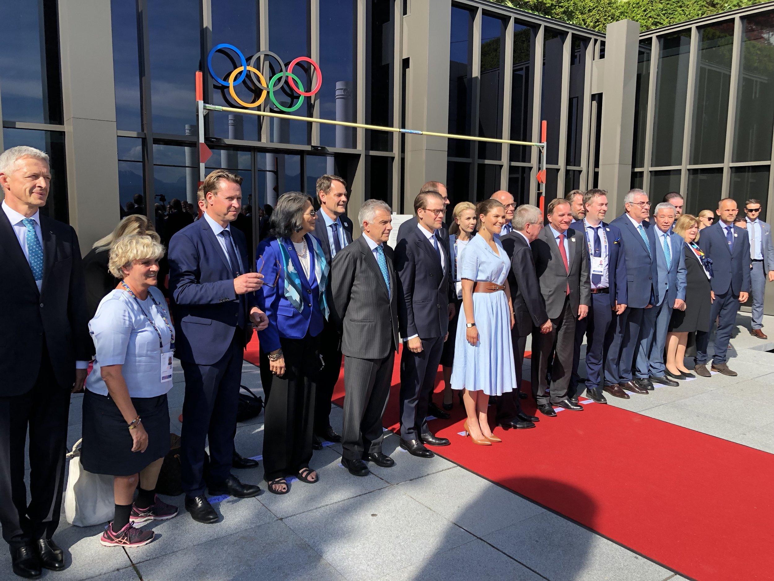 The Swedish bid team Sunday at the Olympic Museum