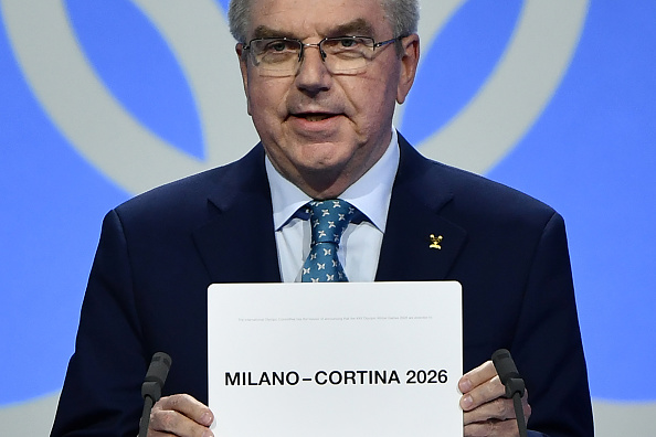The IOC president at decision moment Monday evening in Lausanne // Getty Images