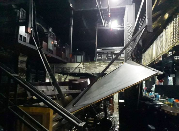 The aftermath: the collapsed deck // Yonhap