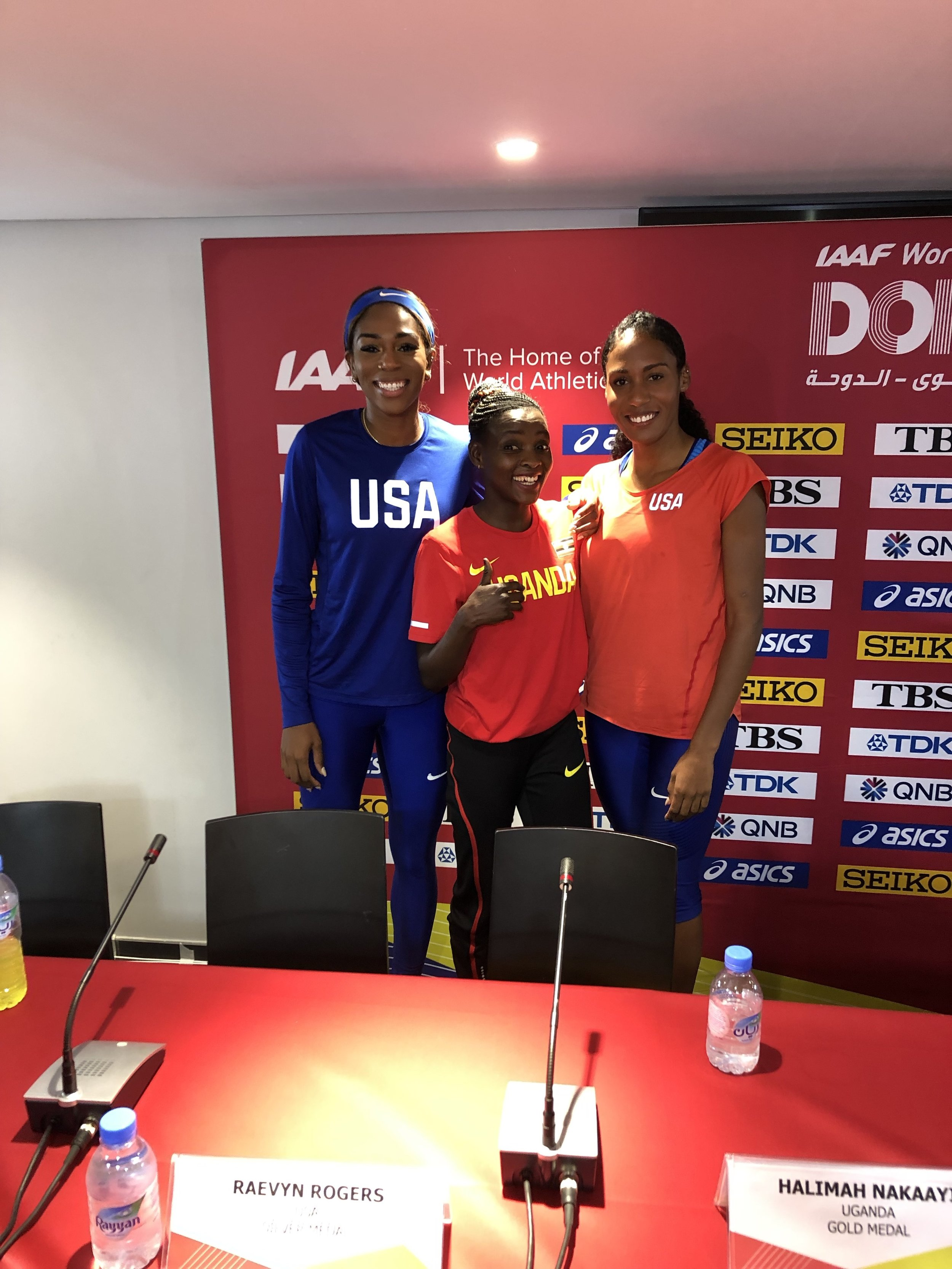 Post-race news conference: Raevyn Rogers, Nakaayi, Ajee' Wilson