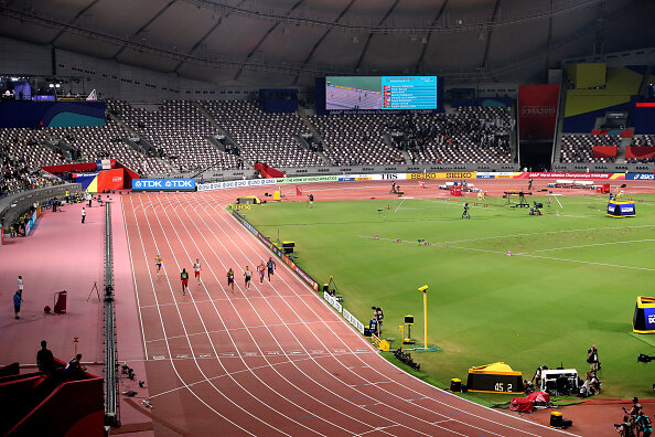Empty seats for the men's decathlon 400 meters on Wednesday // Getty Images