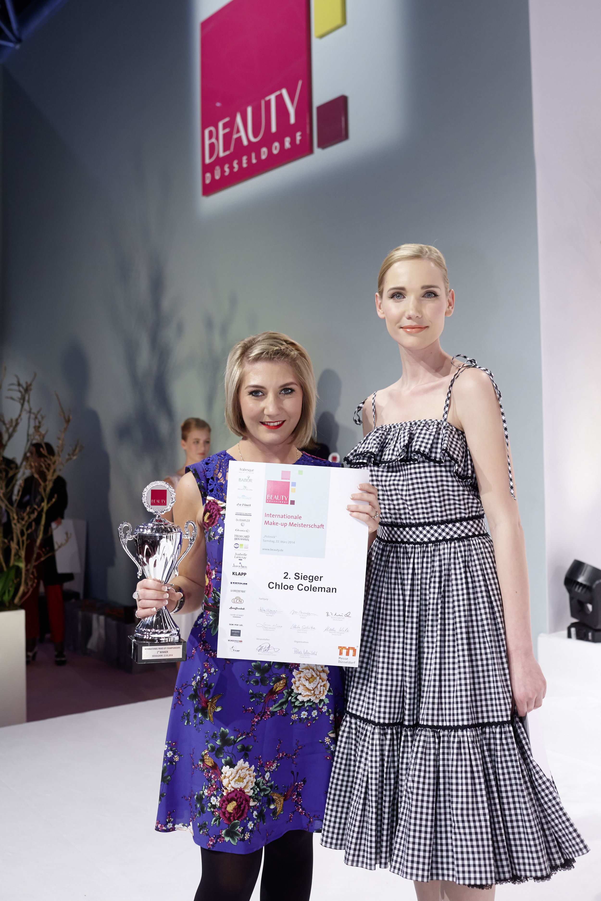 Winning Second place at the International Make-up Championships, Beauty Dusseldorf, Germany 2014