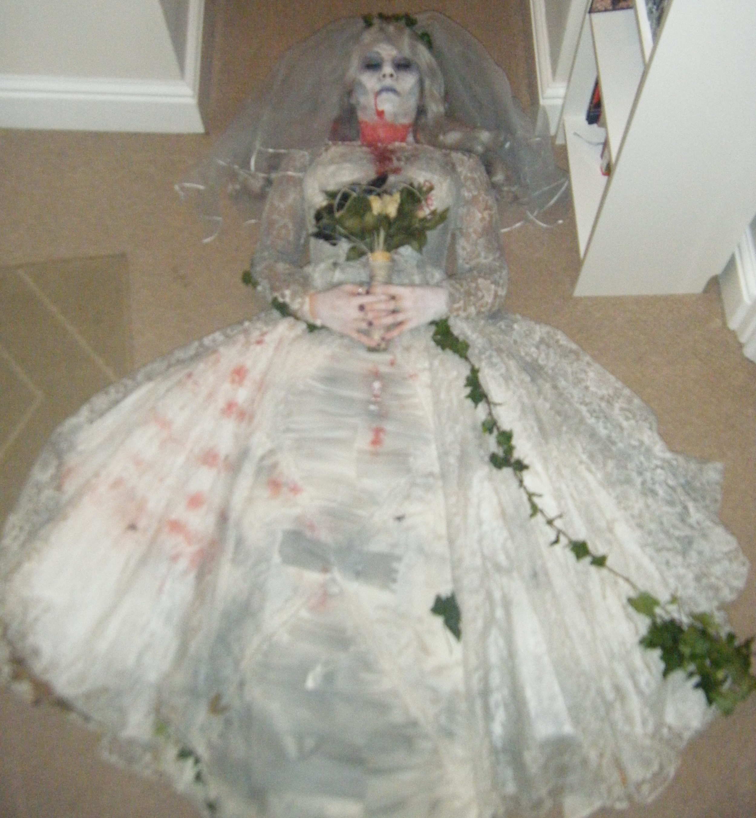 Corpse-bride special effects make-up & costume for Halloween