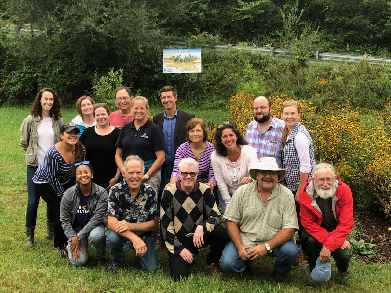 The Choose Clean Water Steering Committee meets with members of Warm Springs Watershed Association in Berkeley Springs, West Virginia.