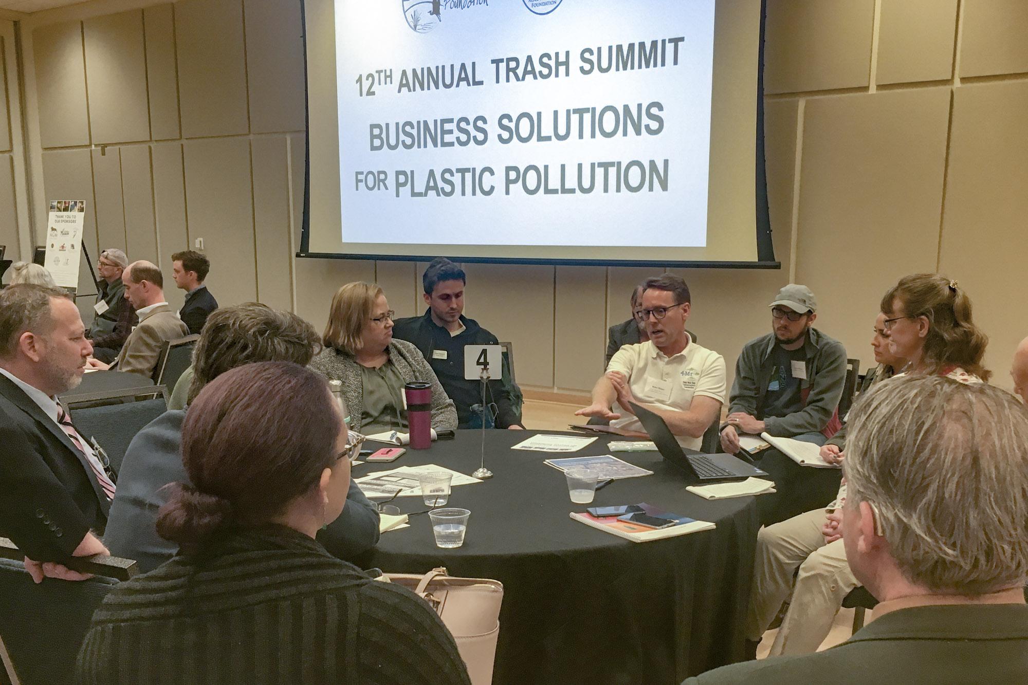 Micro plastics round table. Photo courtesy of AFF