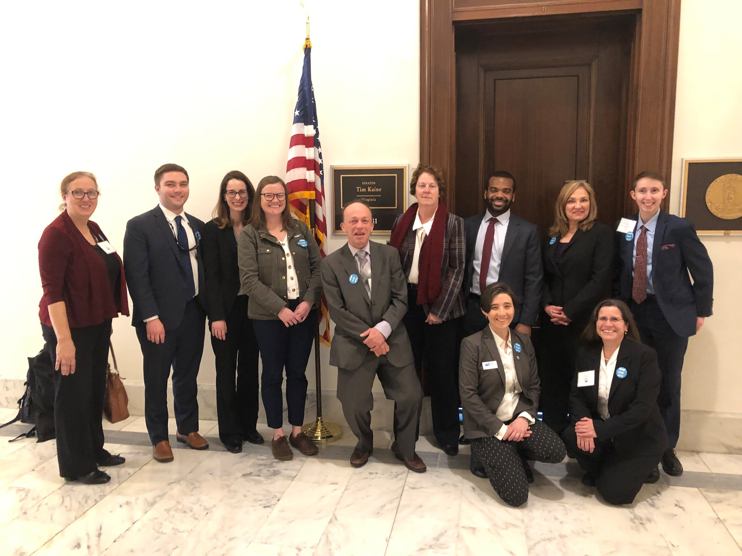 Virginia members meeting with Senator Kaine's office