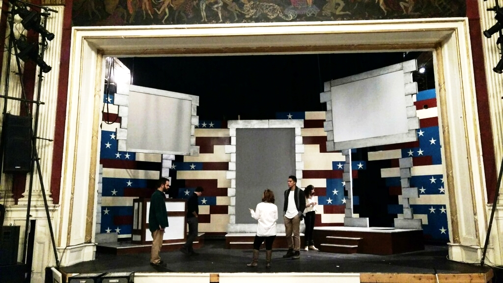 Set construction underway for This Is The Week That Is. December, 2017.