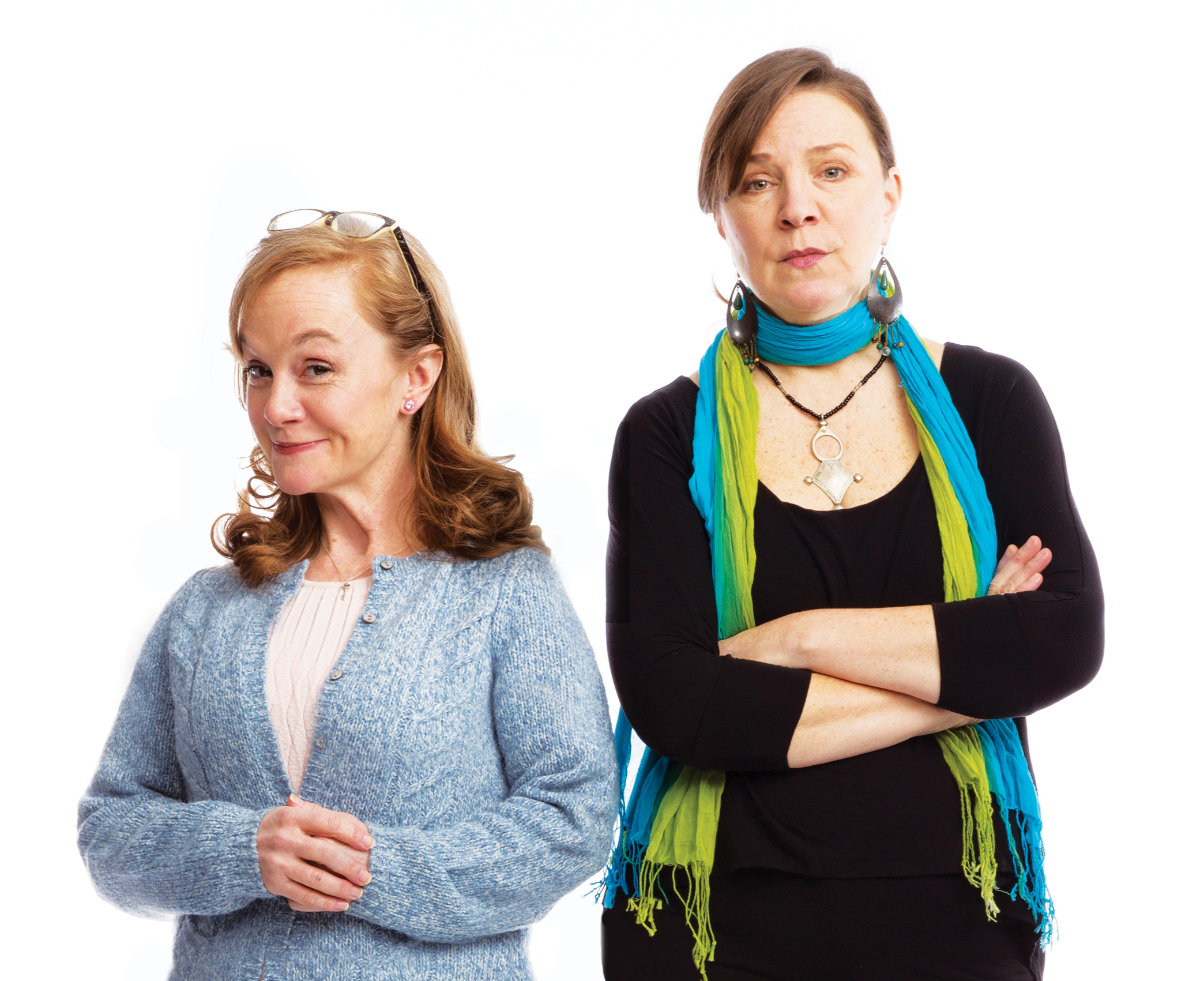 Pictured (l-r): Jennifer Childs and Grace Gonglewski in Jen Silverman's The Roommate. Photo by Mark Garvin
