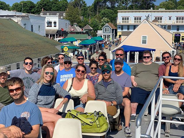 Not really #tbt because it has legitimately taken four days to catch up on sleep since our #mackinacisland weekend (truly @northernmichigantired ). Thank you to everyone who continues to make trips based around where we're playing. Need more sleepy now. Videos-- .