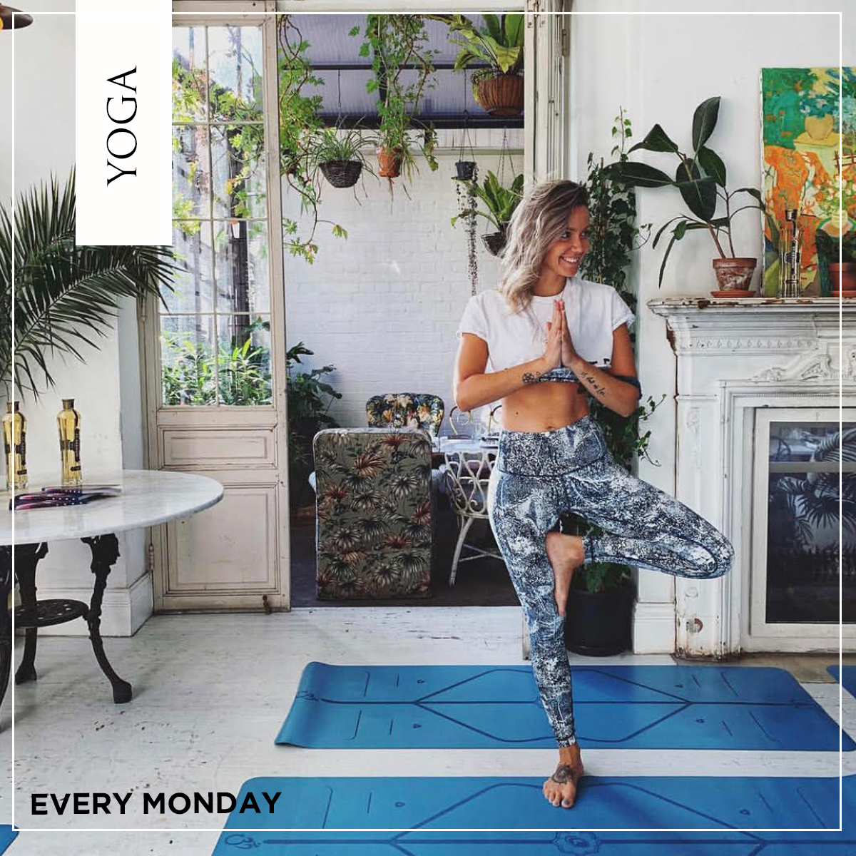 Monday yoga classes at B&H Buildings