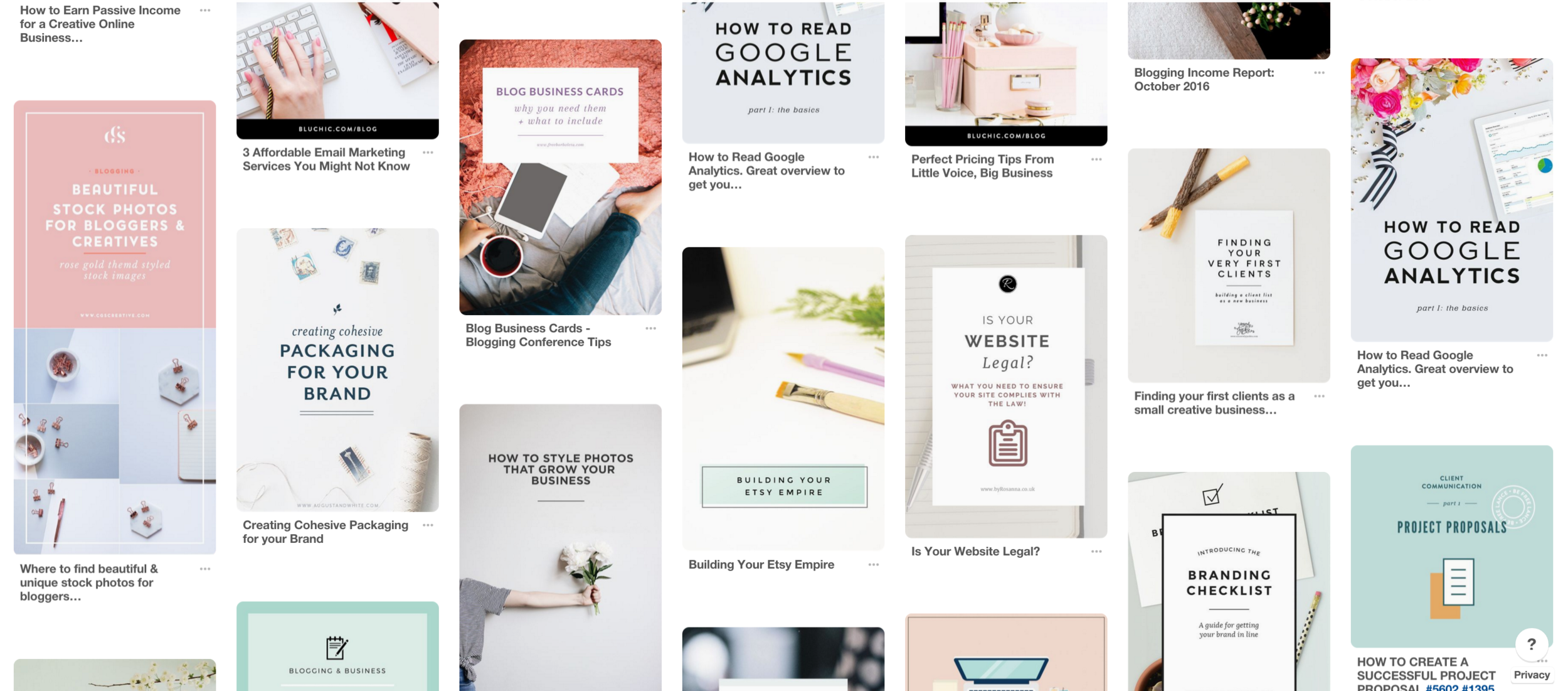 blog post graphic inspiration