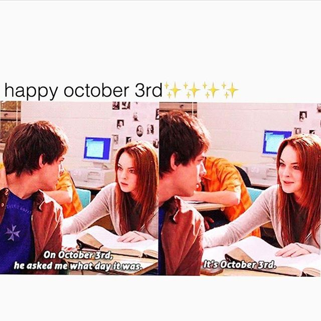The obligatory #October3rd post...we had to! #meangirlsday 📷: @bustle